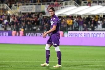 Le message de la Fiorentina à Vlahovic sur sa prolongation. AFP