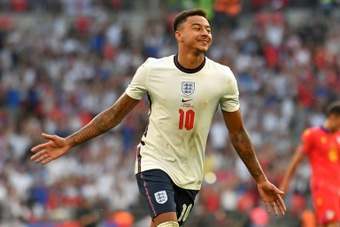 Barca and AC Milan are fighting to get Lingard on a free. AFP