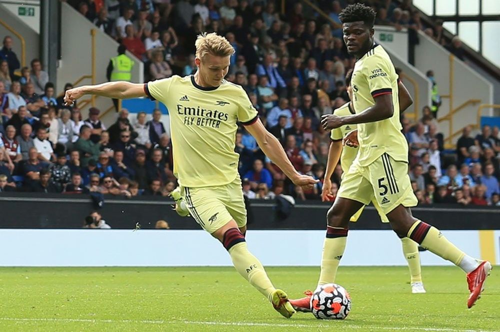 Odegaard doesn't forget his time at Real Madrid. AFP