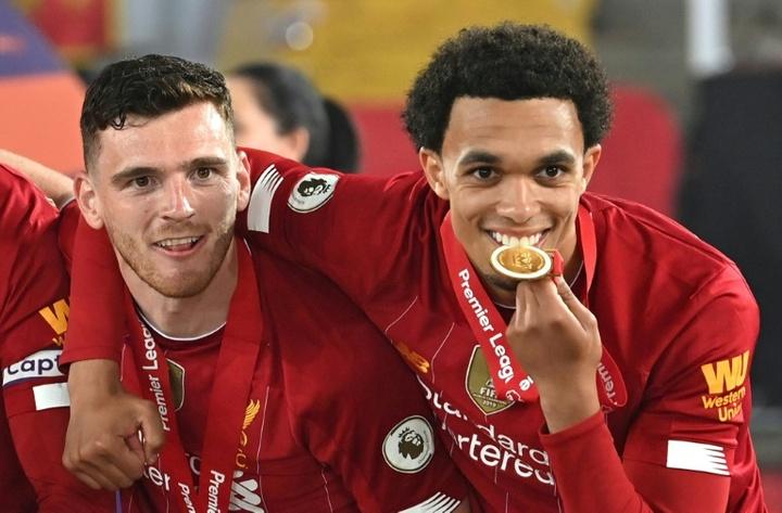 Os seis jogadores do Liverpool que seguirão os passos de Alexander-Arnold. AFP