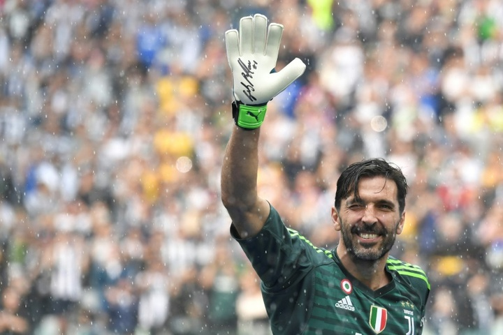 Buffon admitió que Gasperini se lo quiso llevar al Atalanta. AFP