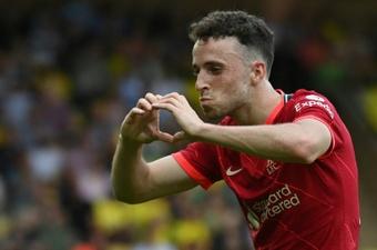 Klopp reservó a Jota de cara al Atlético. AFP