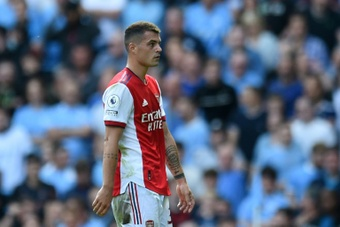 Arsenal midfielder Granit Xhaka has tested positive for Covid-19. AFP