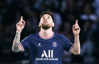Messi hizo el gol de la victoria para el PSG. AFP