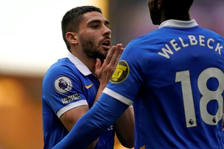 Leicester s'est réveillé trop tard contre Brighton. AFP