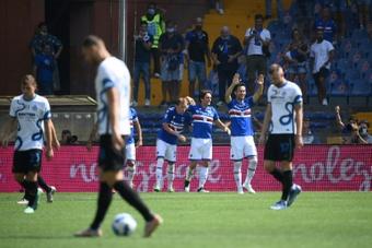 La Sampdoria recuperó la alegría. AFP