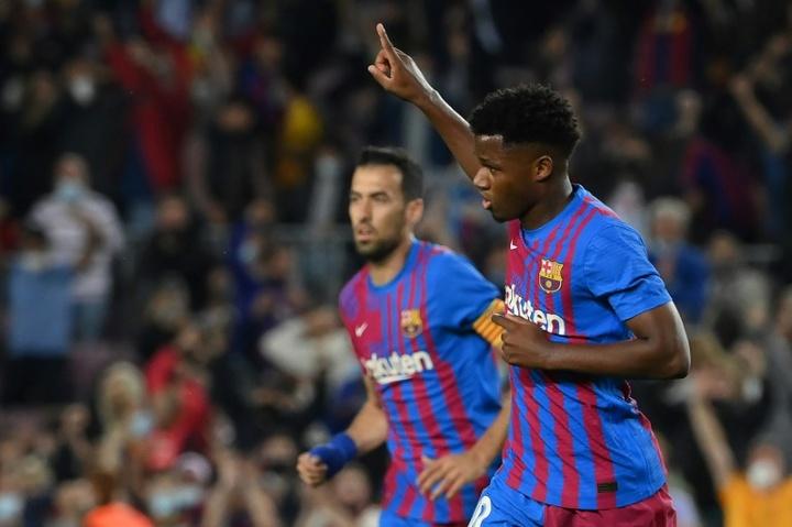 Ansu Fati will stay at Barça. AFP