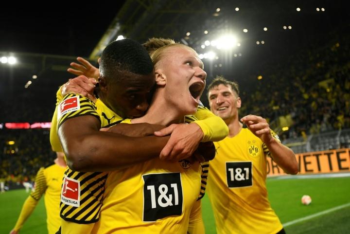 Haaland sauve Dortmund face à Hoffenheim. AFP