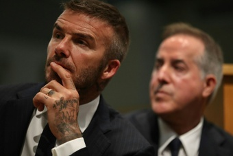 El proyecto de David Beckham podría sufrir un reseteo. AFP/Archivo