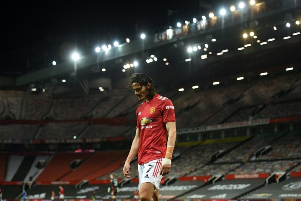 Cavani não teme Cristiano e continuará no United. AFP