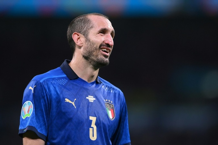 Giorgio Chiellini could be on his way to the Spanish capital. AFP