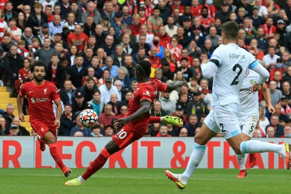 Sadio Mané, le cauchemar de Crystal Palace. AFP