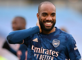 Lacazette wants to leave Arsenal in January. AFP
