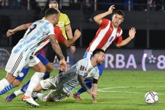Argentina firmó un insulso 0-0 ante Paraguay. AFP