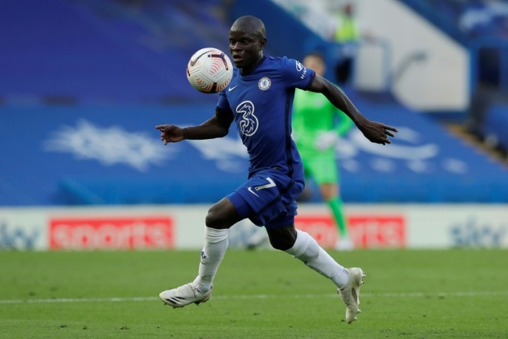N'Golo Kante didn't feature in Chelsea's last game of the season against Villa. AFP