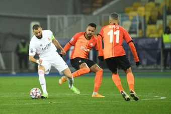 El Shakhtar Donetsk podría ganarle al Madrid tres veces seguidas. AFP