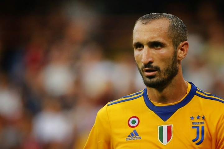 Chiellini will renew with Juventus. AFP