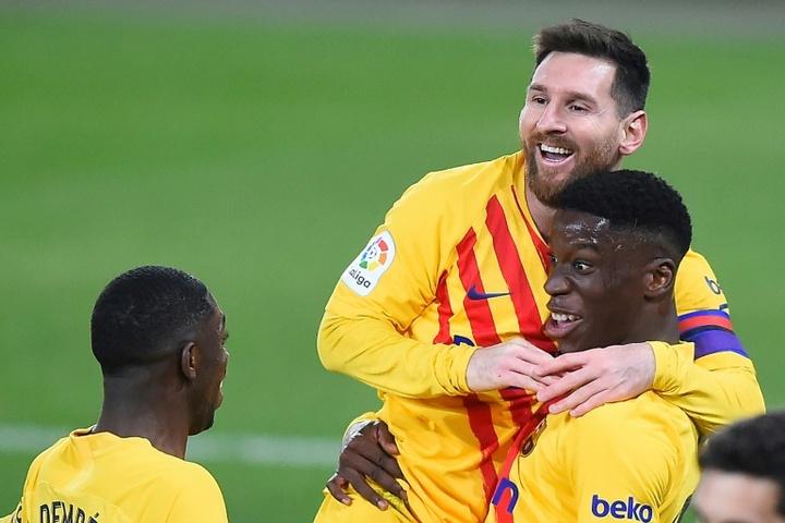 Moriba está na pré-temporada do Barça B. AFP