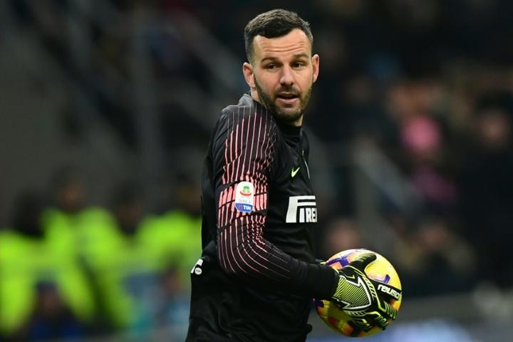 Samir Handanovic serait sur le point de prolonger à l'Inter. afp