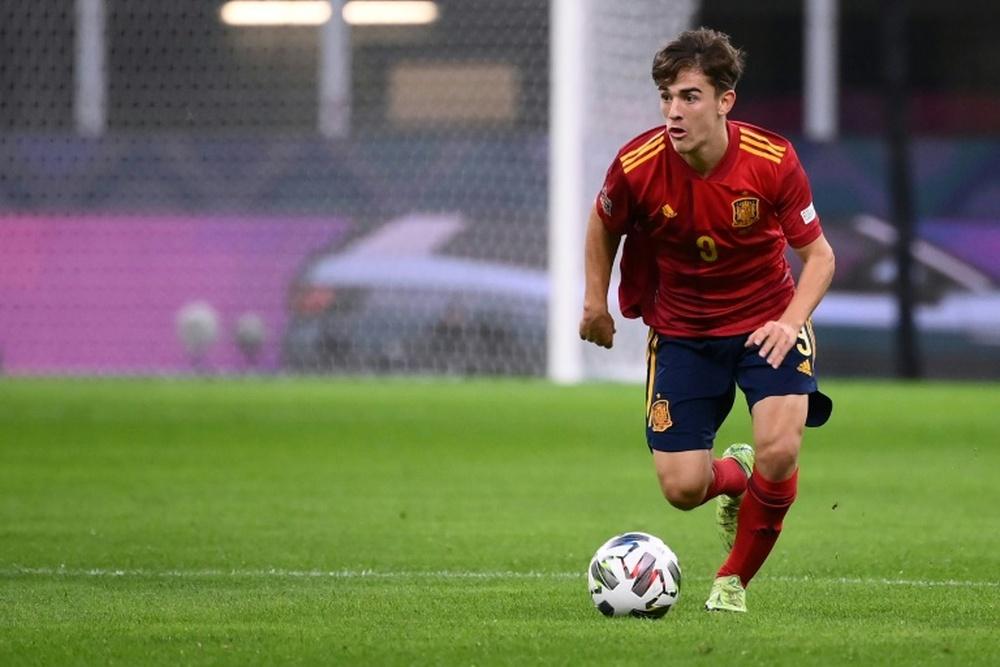 Gavi had a sensational debut with Spain. AFP