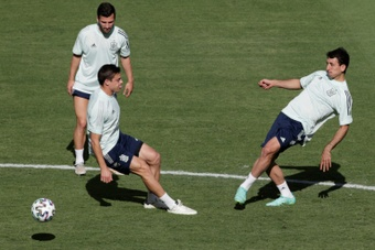 Spain's players had to spend a lot of their pre-tournament preparations training individually. AFP