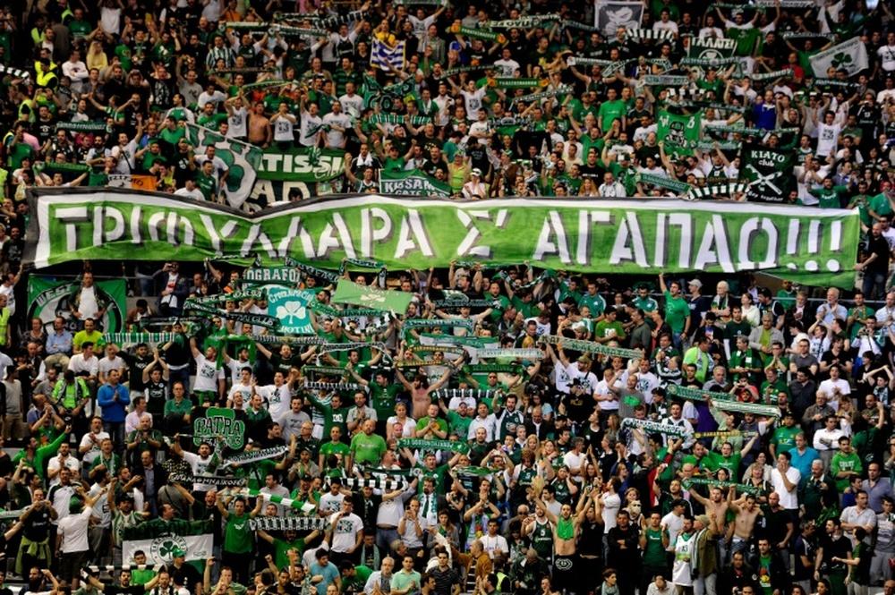 El Panathinaikos ha dejado escapar el triunfo en el último minuto. AFP