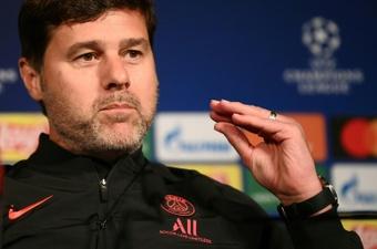 Pochettino habló sobre Messi en rueda de prensa. AFP