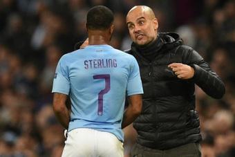 Pep Guardiola répond aux envies de départ de Raheem Sterling. AFP