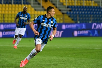 Alexis Sanchez est prêt à quitter l'Inter. afp