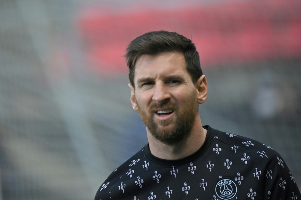 Messi talked about his departure from Barcelona. AFP