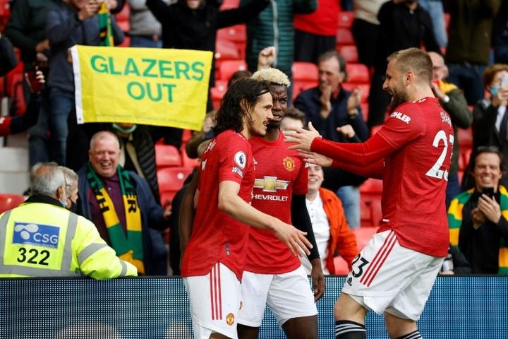 El Fulham frustra a Cavani y a la vuelta del público a Old Trafford. AFP