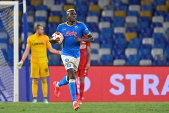 Victor Osimhen, jugador del mes de septiembre en la Serie A. AFP