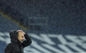 Pep Guardiola réagit au rachat de Newcastle. AFP