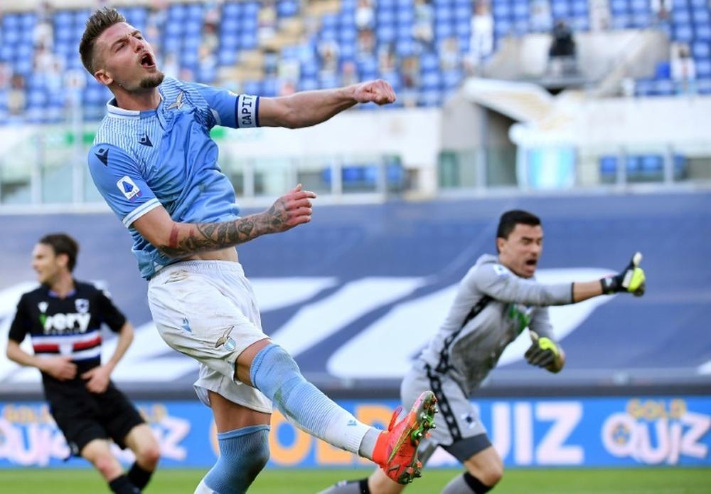 Le formazioni ufficiali di Lazio-Torino. AFP