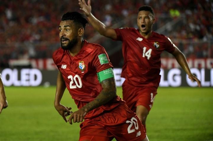 Aníbal Godoy fue el encargado de anotar el gol de la victoria de Panamá. AFP