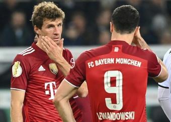 Müller fue especialmente crítico tras quedar fuera de la DFB Pokal. AFP