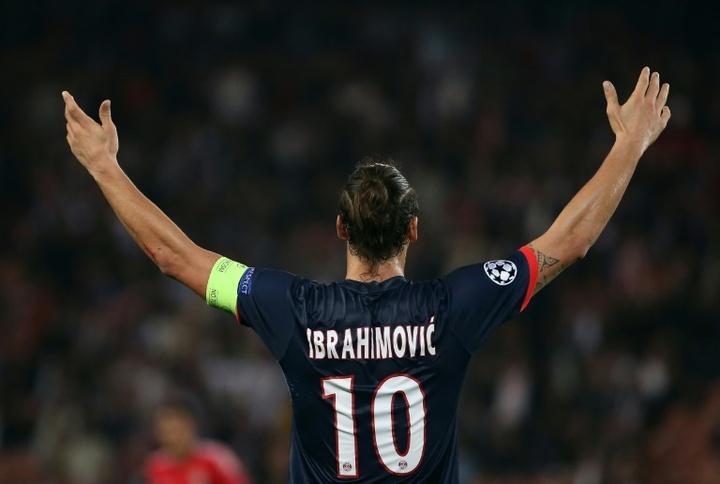 latan Ibrahimovic's last appearance for PSG. AFP