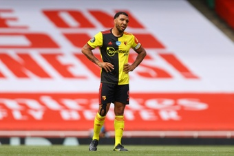 Troy Deeney victime d'insultes racistes. AFP