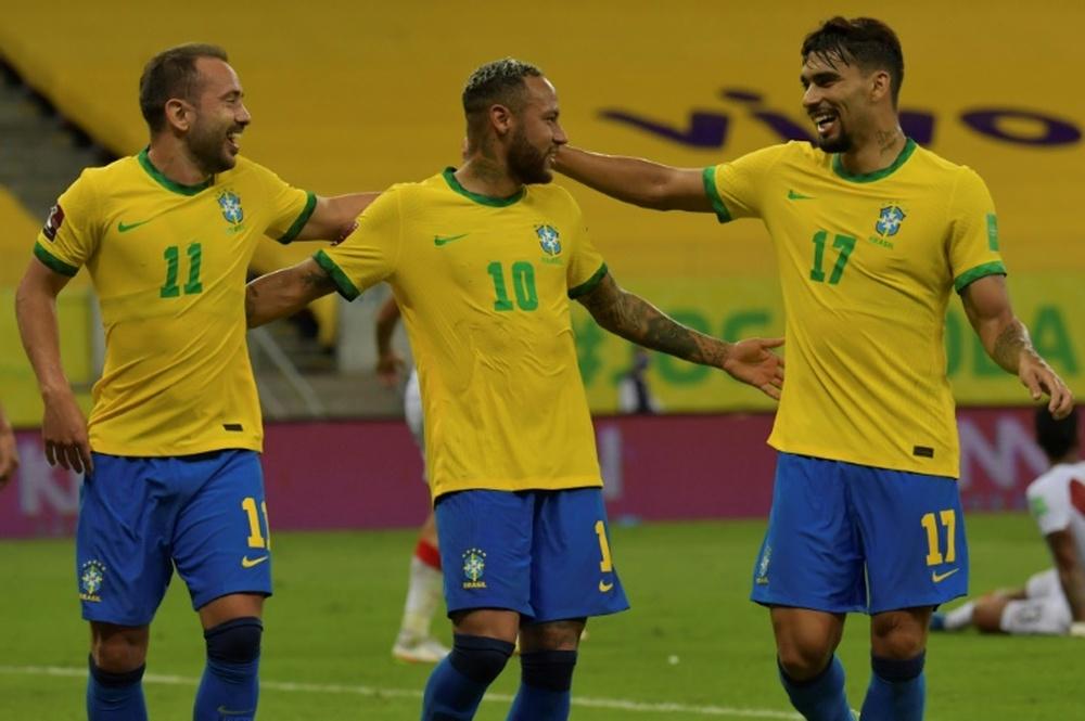Neymar atingirá mais uma marca pela seleção brasileira.AFP