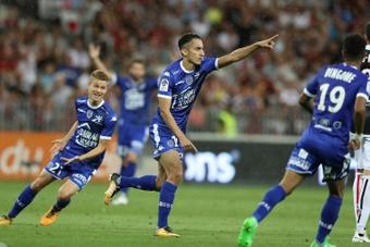 Troyes crée la surprise et fait tomber Nice. AFP