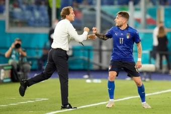 Mancini no podrá contar con Ciro Immobile en la Liga de Naciones. AFP