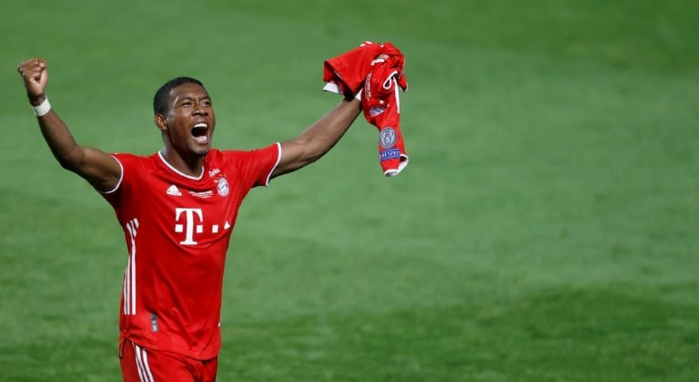Alaba recordó su llegada al Bayern. AFP