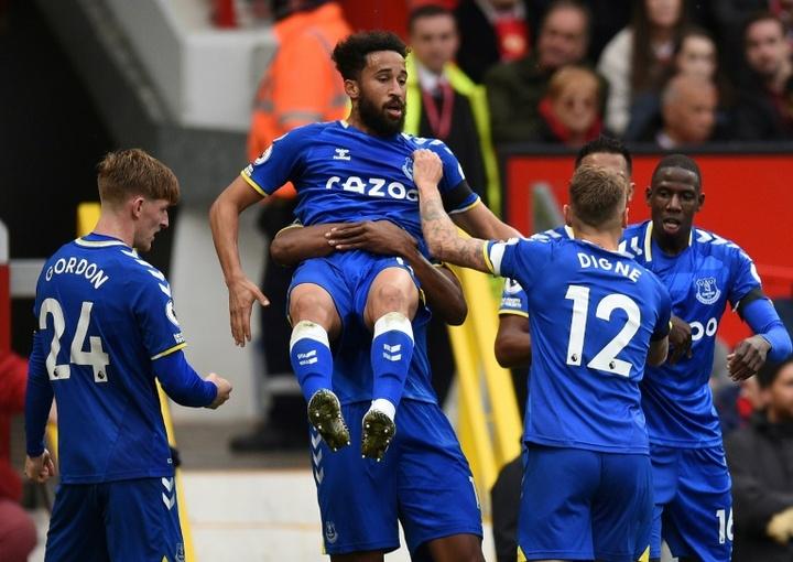 Townsend a célébré en faisant le célèbre 'siuuuu' de Ronaldo. AFP