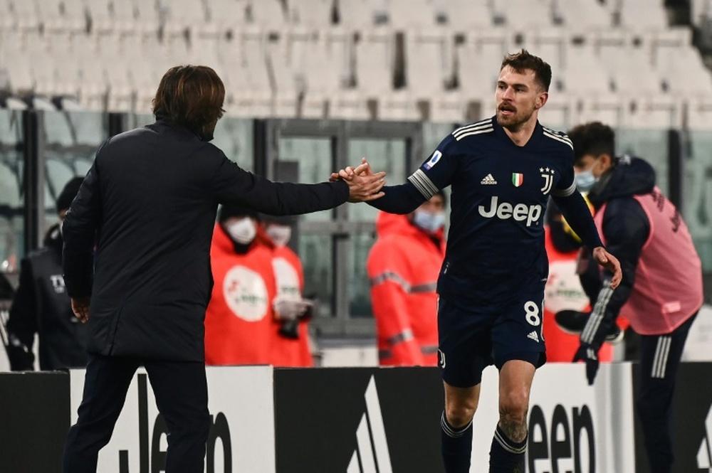 O valor de Aaron Ramsey aos cofres da Juventus. AFP