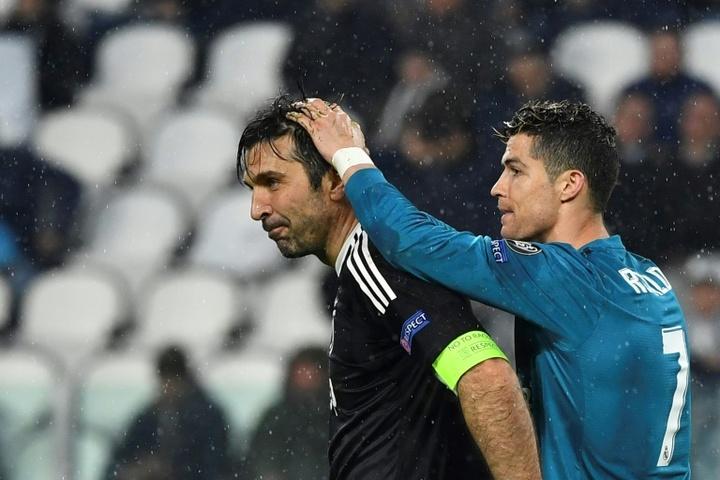 Buffon aseguró entender a Cristiano Ronaldo. AFP