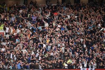 Newcastle fans dream big. AFP