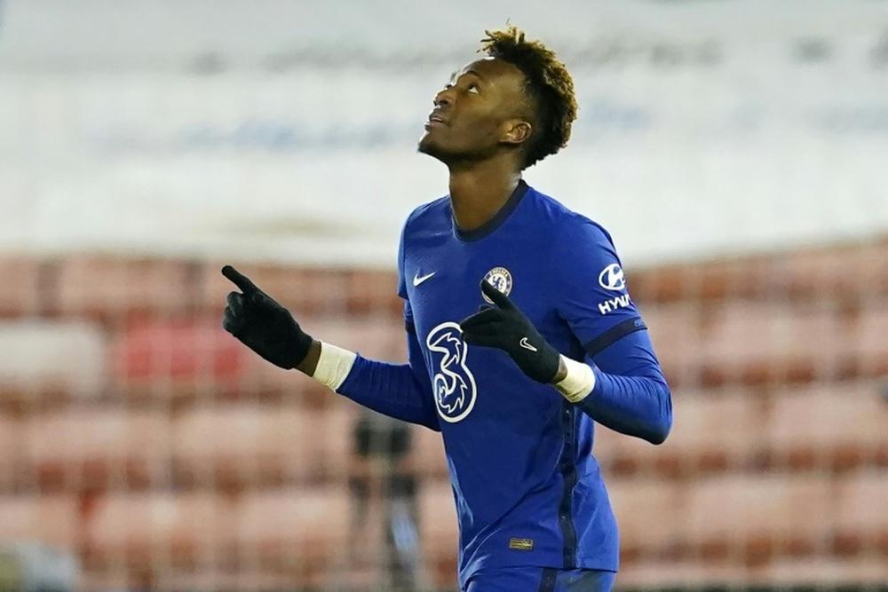Tammy Abraham busca su salida del Chelsea tras el fichaje de Lukaku. AFP