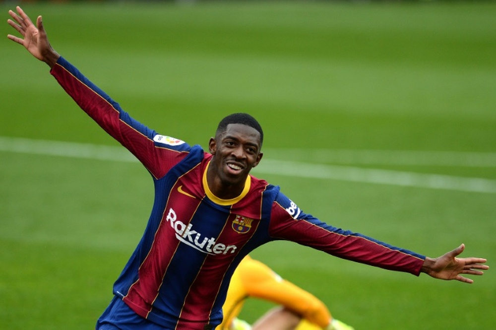 Barça wants to extend Dembele's contract as soon as possible. AFP