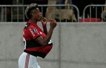 Bruno Henrique coloca o Flamengo na final da Libertadores. AFP