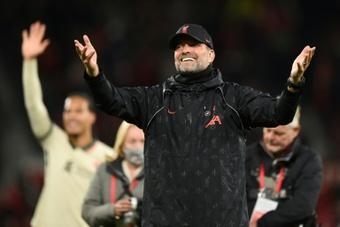 Klopp, sorprendido por la goleada al Manchester United. AFP